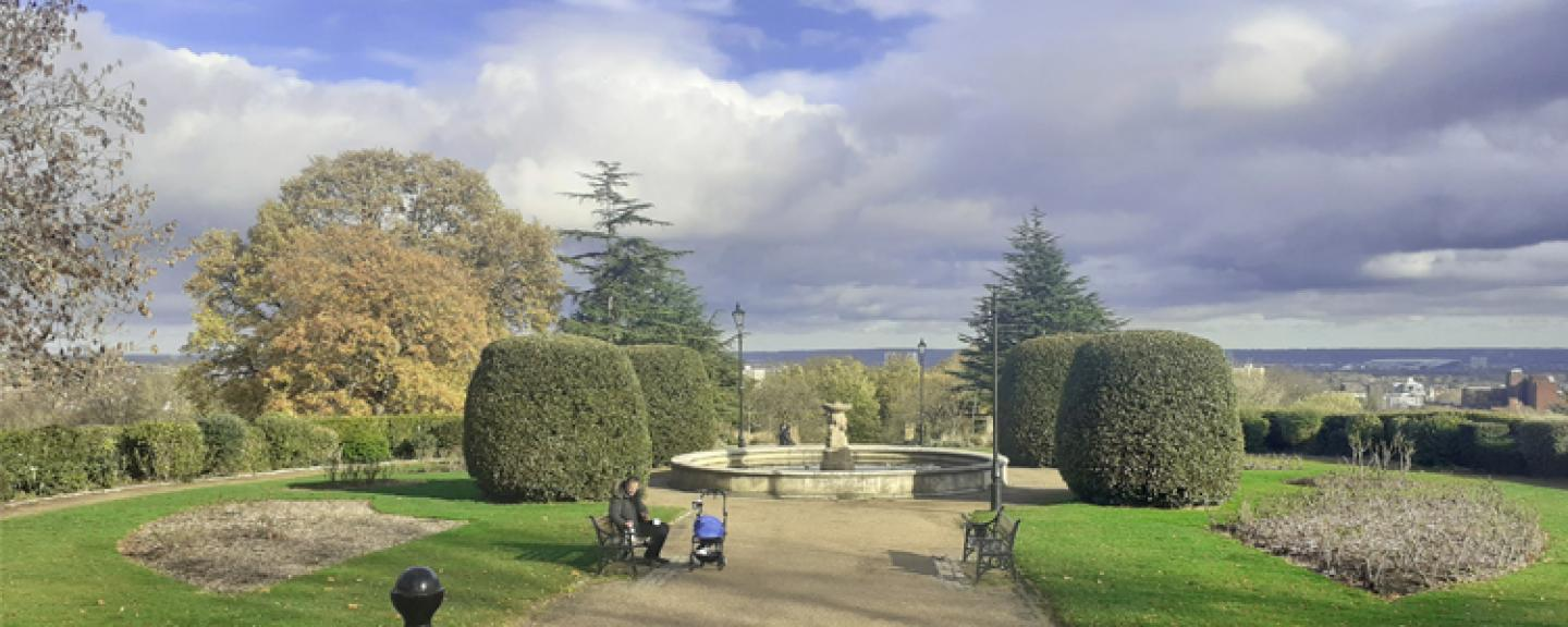 Alexandra Palace Fountain and View