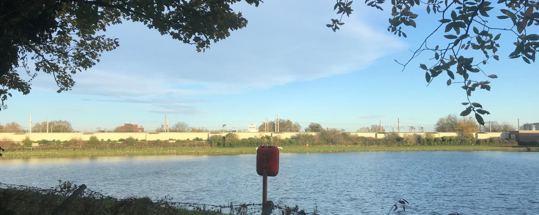 A view overlooking a reservoir.