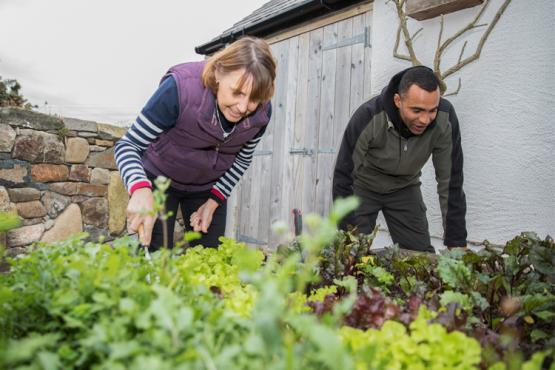 Gardeners working outside